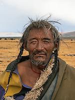 78 year old Tibetan Nomad near Lake Namtso