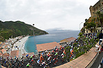 The peloton pass some beautiful scenery during Stage 6 of the 100th edition of the Giro d'Italia 2017, running 217km from Reggio Calabria to Terme Luigiane, Italy. 11th May 2017.<br /> Picture: LaPresse/Fabio Ferrari   Cyclefile<br /> <br /> <br /> All photos usage must carry mandatory copyright credit (&copy; Cyclefile   LaPresse/Fabio Ferrari)
