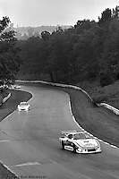 Bobby Rahal (#9) drives a Porsche 935 during the 1980 IMSA race at Road America near Elkhart Lake, Wisconsin.