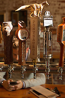 DURHAM, N.C. Tuesday August 5, 2014 - The tap, with local North Carolina beers like Ponysaurus and Natty Green's, at Geer Street Garden, a renovated service station, in Durham, N.C. (Justin Cook for The New York Times)