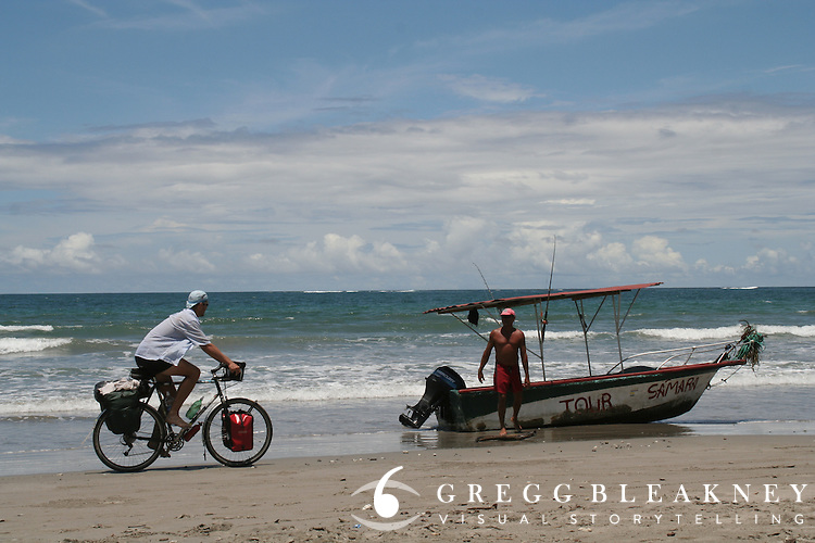 Gregg Bleakney on the Beach and Costa Rican Tour Salesman - Samara Beach - Costa Rica