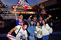 Yokohama Marinos fans,..MAY 15, 1993 - Football :..J.League Opening Match between Verdy Kawasaki 1-2 Yokohama Marinos at National Stadium in Tokyo. Japan. (Photo by Katsuro Okazawa/AFLO)