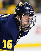 Jesse Todd (Merrimack - 16) - The Merrimack College Warriors defeated the University of New Hampshire Wildcats 4-1 (EN) in their Hockey East Semi-Final on Friday, March 18, 2011, at TD Garden in Boston, Massachusetts.