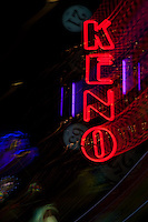 """Keno in Reno"" - This Keno sign was photographed in a casino in Downtown Reno, Nevada. The effect was obtained in camera by long exposure mixed with intentional camera movement."