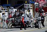 Monterey California, May 4, 2014, Laguna Seca Monterey Grand Prix, BMW no 55 makes its last pit stop int he race