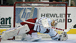 10/20/06 Omaha, NE  University of Nebraska at Omaha goalie Jerad Kaufmann at Qwest Center Omaha..(Chris Machian/Prairie Pixel Group)..UNO won in the first game of the Maverick Stampede.