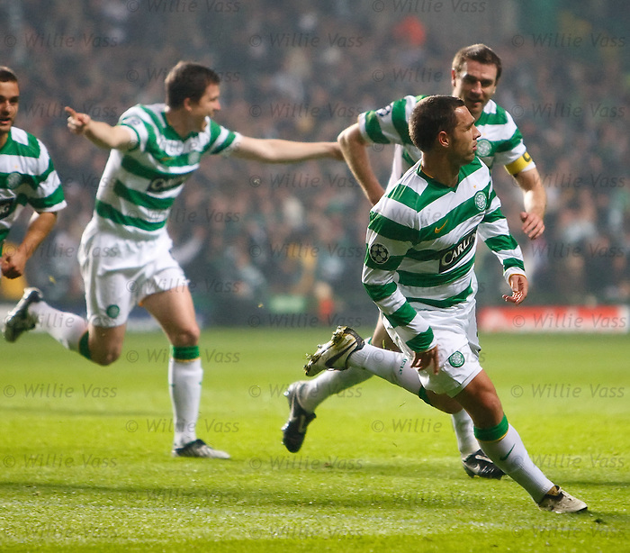 Scott McDonald runs away to celebrate his goal