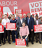 Labour IN campaign bus visits the Queen Elizabeth Olympic Park Stratford, London with Alan Johnson MP chair of the Labour in for Britain campaign to set out what impact leaving the European Union would have on the UK tourism sector.<br />  <br /> 29th May 2016 <br /> <br /> Alan Johnson <br /> <br /> with Lee Shinkin - Judo Bronze medalist in Commonwealth Games<br /> <br /> Stephen Timms MP <br /> East Ham <br /> <br /> Iain McNicol <br /> General Secretary of the Labour Party <br /> <br /> and Sir Robin Wales <br /> Mayor of Newham <br /> <br /> and party activists <br /> <br /> Photograph by Elliott Franks <br /> Image licensed to Elliott Franks Photography Services