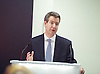 Chris Leslie MP, Labour&rsquo;s Shadow Chancellor speech ahead of the Emergency Budget<br /> 30th June 2015 <br /> at KMPG, Canary Wharf, London, Great Britain <br /> <br /> <br /> Chris Leslie <br /> <br /> <br /> Photograph by Elliott Franks <br /> Image licensed to Elliott Franks Photography Services