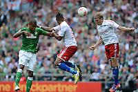 FUSSBALL   1. BUNDESLIGA   SAISON 2012/2013   2. Spieltag SV Werder Bremen - Hamburger SV                     01.09.2012         Theodor Gerbe Selassie (SV Werder Bremen) gegen Dennis Aogo und Artjoms Rudnevs (v.l., beide Hamburg)