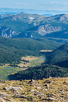 High in the Beartooth Mountains of the Shoshone National Forest Wyoming