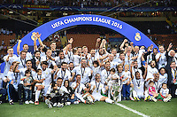 FUSSBALL  CHAMPIONS LEAGUE  FINALE  SAISON 2015/2016   Real Madrid - Atletico Madrid                   28.05.2016 Teamfoto Real Madrid