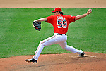 22 June 2008: Washington Nationals' pitcher Steven Shell delivers his first pitch in the majors and continues to put down the side in order in the ninth inning against the Texas Rangers at Nationals Park in Washington, DC. The Rangers defeated the Nationals 5-3 in the final game of their 3-game inter-league series...Mandatory Photo Credit: Ed Wolfstein Photo