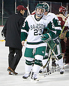 Trevor Hines (Babson - 23) - The Norwich University Cadets defeated the Babson College Beavers 4-1 on Friday, January 13, 2011, at Fenway Park in Boston, Massachusetts.