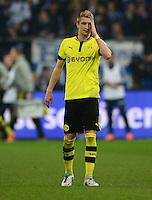 FUSSBALL   1. BUNDESLIGA   SAISON 2012/2013    25. SPIELTAG FC Schalke 04 - Borussia Dortmund                         09.03.2013 Marco Reus (Borussia Dortmund) ist enttaeuscht