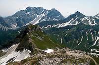 Liechtenstein  Malbun  June 2008.Small town high in the Alpine (southeastern)..Fürstin-Gina-Weg' (Princess Gina memorial trail)..The Austrian Alps.