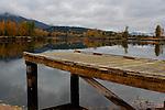 Reflections of Fall at the State park dock near Cataldo, Idaho