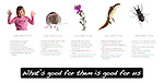 What's good for them is good for us poster