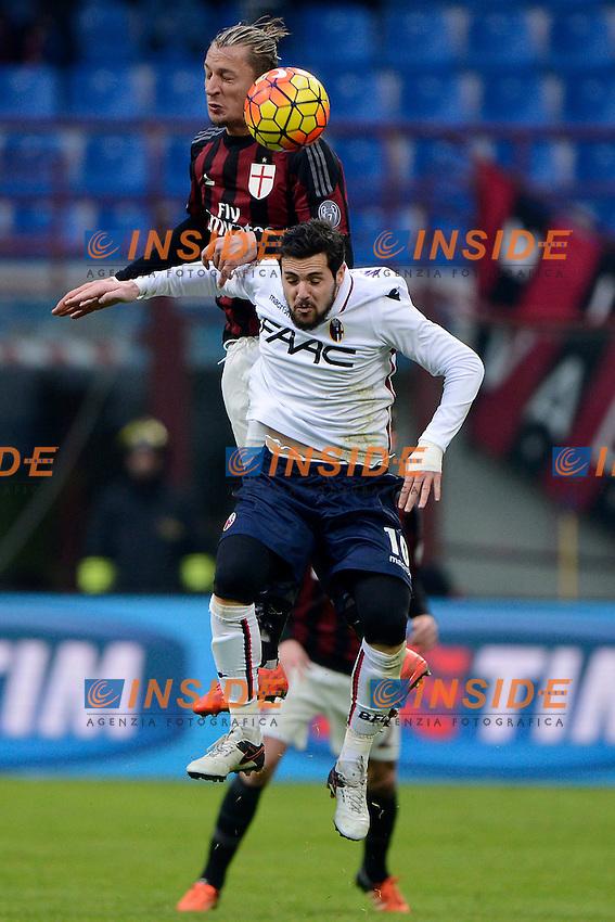Philippe Mexes Milan, Mattia Destro Bologna<br /> Milano 6-01-2016 Stadio Giuseppe Meazza - Football Calcio Serie A Milan - Bologna. Foto Giuseppe Celeste / Insidefoto