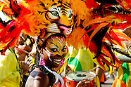 A Colombian girl, having a tiger mask, dances Mapalé during the Carnival in Barranquilla, Colombia, 27 February 2006. The Carnival of Barranquilla is a unique festivity which takes place every year during February or March on the Caribbean coast of Colombia. A colourful mixture of the ancient African tribal dances and the Spanish music influence - cumbia, porro, mapale, puya, congo among others - hit for five days nearly all central streets of Barranquilla. Those traditions kept for centuries by Black African slaves have had the great impact on Colombian culture and Colombian society. In November 2003 the Carnival of Barranquilla was proclaimed as the Masterpiece of the Oral and Intangible Heritage of Humanity by UNESCO.