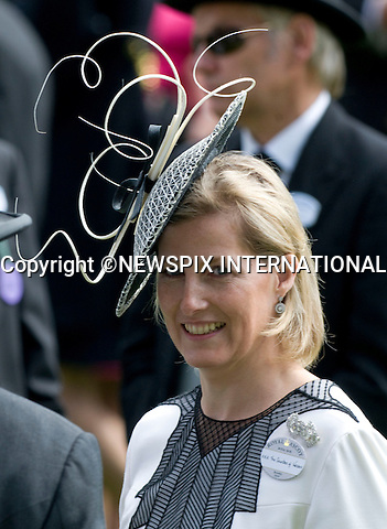 """SOPHIE, COUNTESS OF WESSEX.on the first day of Royal Ascot 2010_15/06/2010.Mandatory Photo Credit: ©Dias/Newspix International..**ALL FEES PAYABLE TO: """"NEWSPIX INTERNATIONAL""""**..PHOTO CREDIT MANDATORY!!: NEWSPIX INTERNATIONAL(Failure to credit will incur a surcharge of 100% of reproduction fees)..IMMEDIATE CONFIRMATION OF USAGE REQUIRED:.Newspix International, 31 Chinnery Hill, Bishop's Stortford, ENGLAND CM23 3PS.Tel:+441279 324672  ; Fax: +441279656877.Mobile:  0777568 1153.e-mail: info@newspixinternational.co.uk"""