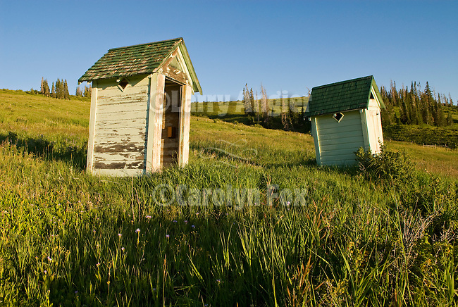 Old outhouses at the old Forest Severice camp high on the western slope of the Wasatch Plateau