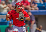 11 March 2013: Washington Nationals catcher Kurt Suzuki in action during a Spring Training game against the Atlanta Braves at Space Coast Stadium in Viera, Florida. The Braves defeated the Nationals 7-2 in Grapefruit League play. Mandatory Credit: Ed Wolfstein Photo *** RAW (NEF) Image File Available ***