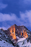 742900476 a winter sunrise  lights up the craggy peaks of the eastern sierras near middle palisades glacier in kern county california