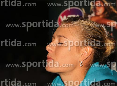 23.04.2012, Porsche Arena, Stuttgart, GER, WTA, Porsche Tennis Grand Prix Stuttgart, im Bild Maria Sharapova im Interview // during the WTA Porsche Tennis Grand Prix at the Porsche Arena, Stuttgart, Germany on 2012/04/23. EXPA Pictures © 2012, PhotoCredit: EXPA/ Eibner/ Eckhard Eibner..***** ATTENTION - OUT OF GER *****