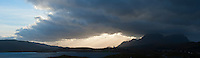 Panoramic landscape, Vestvagoy, Lofoten Islands, Norway