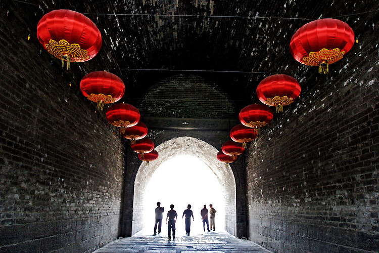 Under the ancient walls of Xi'an.