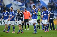 FUSSBALL   1. BUNDESLIGA  SAISON 2012/2013   4. Spieltag FC Schalke 04 - FC Bayern Muenchen      22.09.2012 Julian Draxler, Marco Hoeger , Lewis Holtby, Joel Matip, Roman Neustaedter (v. li., FC Schalke 04)
