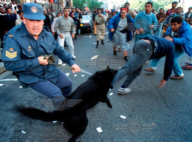 Police Dogs Bite Police In Protest