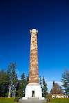 The Astoria Column in Astoria, Oregon, USA