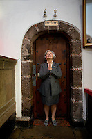 Renowned Mexican author Elena Poniatowska at a chapel in her Mexico city neighbourhood.  Chimalistac, Mexico City