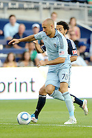 Sporting KC defender  Aurelien Collin (78) in action... Sporting KC defeated Vancouver Whitecaps 2-1 at LIVESTRONG Sporting Park, Kansas City, Kanas.