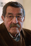 Gunter Grass attending book fair in Frankfurt.