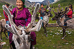 "Tsaatan translates to ""people of the reindeer."" Reindeer provide food, clothing, and transportation for this endangered people. Mongolia"
