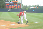Mississippi's Mike Snyder (32) makes the last out vs. St. John's during an NCAA Regional game at Davenport Field in Charlottesville, Va. on Sunday, June 6, 2010. St. John's won 20-16.