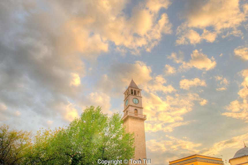 Kulla e Sahait Clock Tower, Tirama, Albania