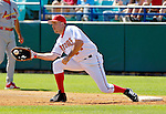 8 March 2006: Nick Johnson, first baseman for the Washington Nationals, makes a play at first during a Spring Training game against the St. Louis Cardinals. The Cardinals defeated the Nationals 7-4 in 10 innings at Space Coast Stadium, in Viera, Florida...Mandatory Photo Credit: Ed Wolfstein.