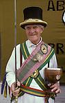 The Mock Mayor of Ock Street, with ceremonial sword and  cup. Ock Street Abingdon Oxfordshire.