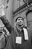 24 Mar 1970 --- A postal worker makes a peace sign during an eight-day strike involving 30 major U.S. cities. --- Image by © JP Laffont/Sygma/CORBIS