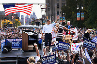 Presidential canditate Barack Obama promised to help the automobile industry at his address to crowds in Detroit, Michigan.