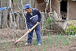 Epiphanio Torres works in his garden in the Guarani indigenous village of Kapiguasuti, Bolivia. He and his neighbors started the gardens with assistance from Church World Service, supplementing their corn-based diet with nutritious vegetables and fruits.