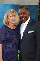 HOLLYWOOD, CA - JULY 9: Ernie Hudson, Linda Kingsberg at the premiere of Sony Pictures' 'Ghostbusters' held at TCL Chinese Theater on July 9, 2016 in Hollywood, California. Credit: David Edwards/MediaPunch