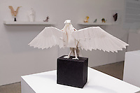 "Surface to Structure origami exhibition at Cooper Union, New York. Gallery view. Turkey Vulture ""Richard"" designed and folded by Robert Lang 2011."
