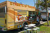 Streets of Thailand, Gourmet Food Truck, Mid Wilshire, Los Angeles CA. Miracle Mile district.