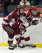 Kevin McNamara (Colgate - 10), Marshall Everson (Harvard - 21) - The Harvard University Crimson defeated the visiting Colgate University Raiders 6-2 (2 EN) on Friday, January 28, 2011, at Bright Hockey Center in Cambridge, Massachusetts.
