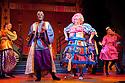 London, UK. 01/12/2011. Aladdin opens at the Lyric Hammersmith. Hammed Animashaun (as Aladdin) and Shaun Prendergast (as Widow Twankey). Photo credit: Jane Hobson